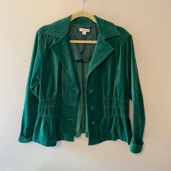 Joan Rivers Emerald Velvet Blazer